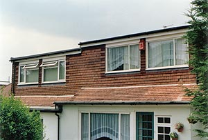 Full length roof dormer loft conversion